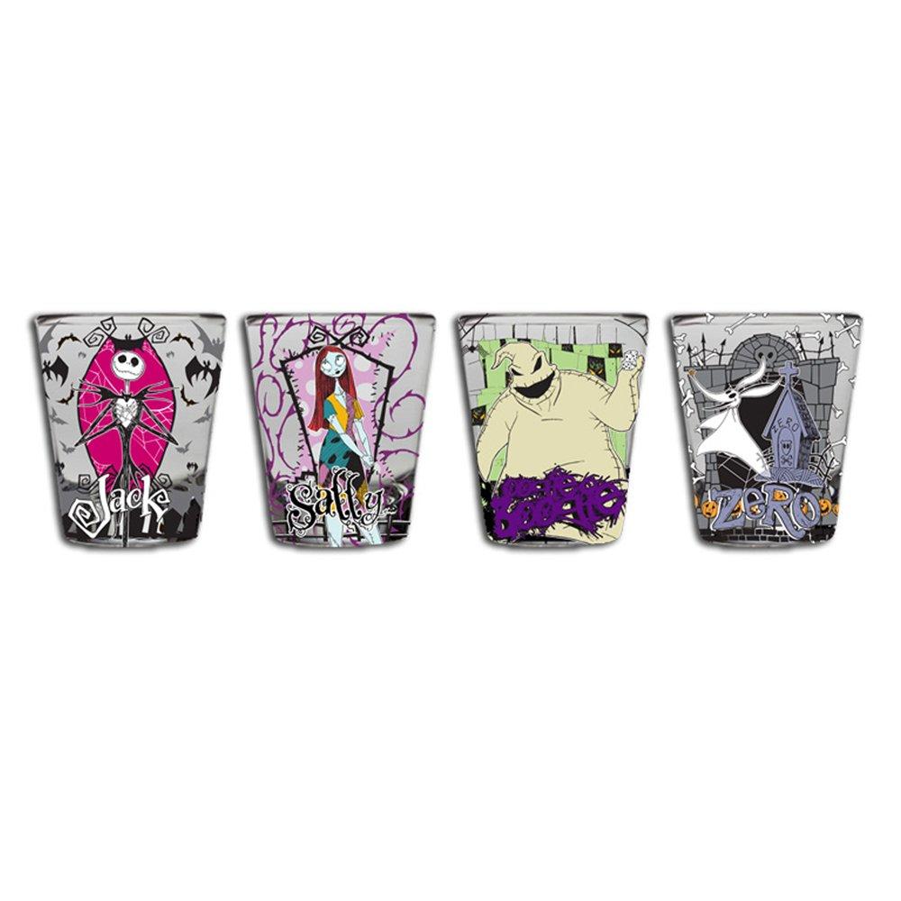 Silver Buffalo NB031T2 Disney Nightmare Before Christmas Glass Tumbler Set 4-Pack