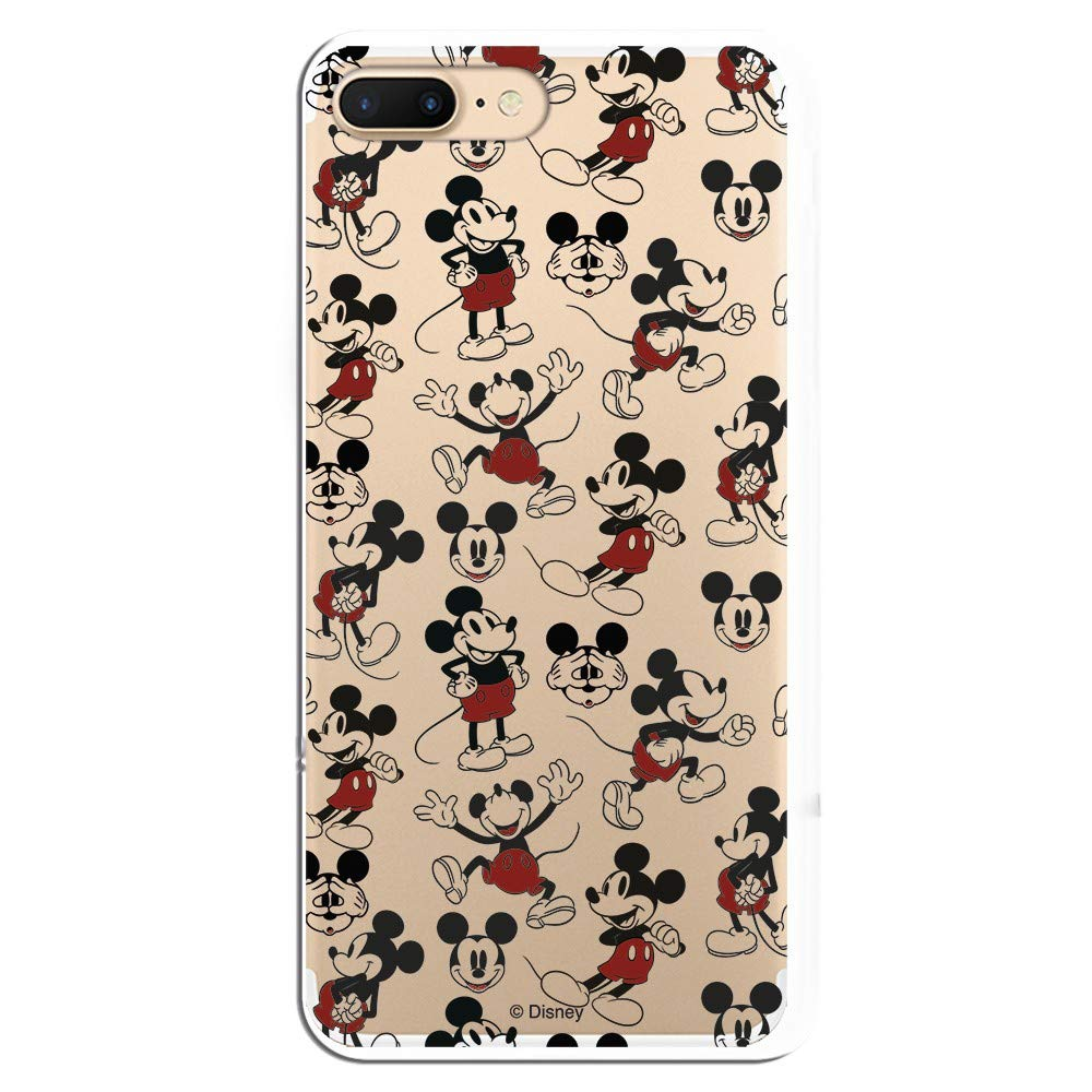 Carcasa Oficial de Disney Mickey Patrón Clear para iPhone 7 ...