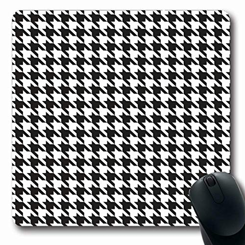 - Ahawoso Mousepads for Computers Suit Tooth Houndstooth Pattern Black Dog Woven Abstract Check Checkered Classic Design Oblong Shape 7.9 x 9.5 Inches Non-Slip Oblong Gaming Mouse Pad