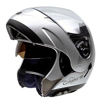 NZI 050241G262 Convert III, Casco de Moto, con Bluetooth BTMP, Plateado, Talla
