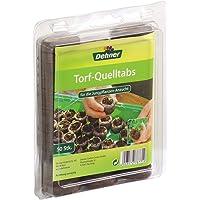 Dehner Torf-Quelltabletten mit Nährstoff-Mix, zur Anzucht von Jungpflanzen, 50 Stück