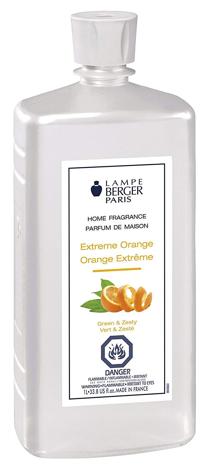Extreme Orange | Lampe Berger Fragrance Refill for Home Fragrance Oil Diffuser | Purifying and perfuming Your Home | 33.8 Fluid Ounces - 1 Liter | Made in France