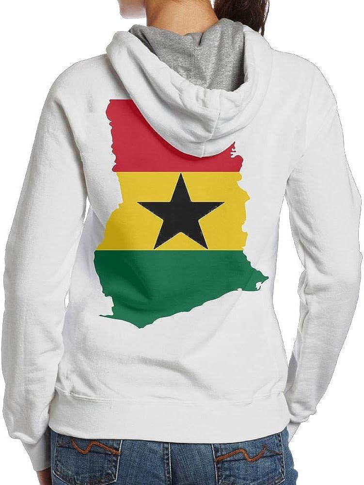 BB/&YYY Ghana Flag 1 Womens Pullover Hoodie Sweatshirt Back Print Hoodies