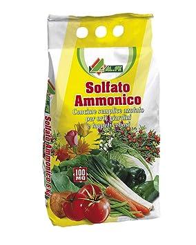 Sulfato de amonio, fertilizante nitrogenado, en bolsa de 5 kg: Amazon.es: Jardín