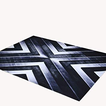 Moderne Art Wohnzimmer Teppich Matte Matte Tür Matten Couchtisch Teppich  Schwarz Polyester Material Metall Sturm Muster
