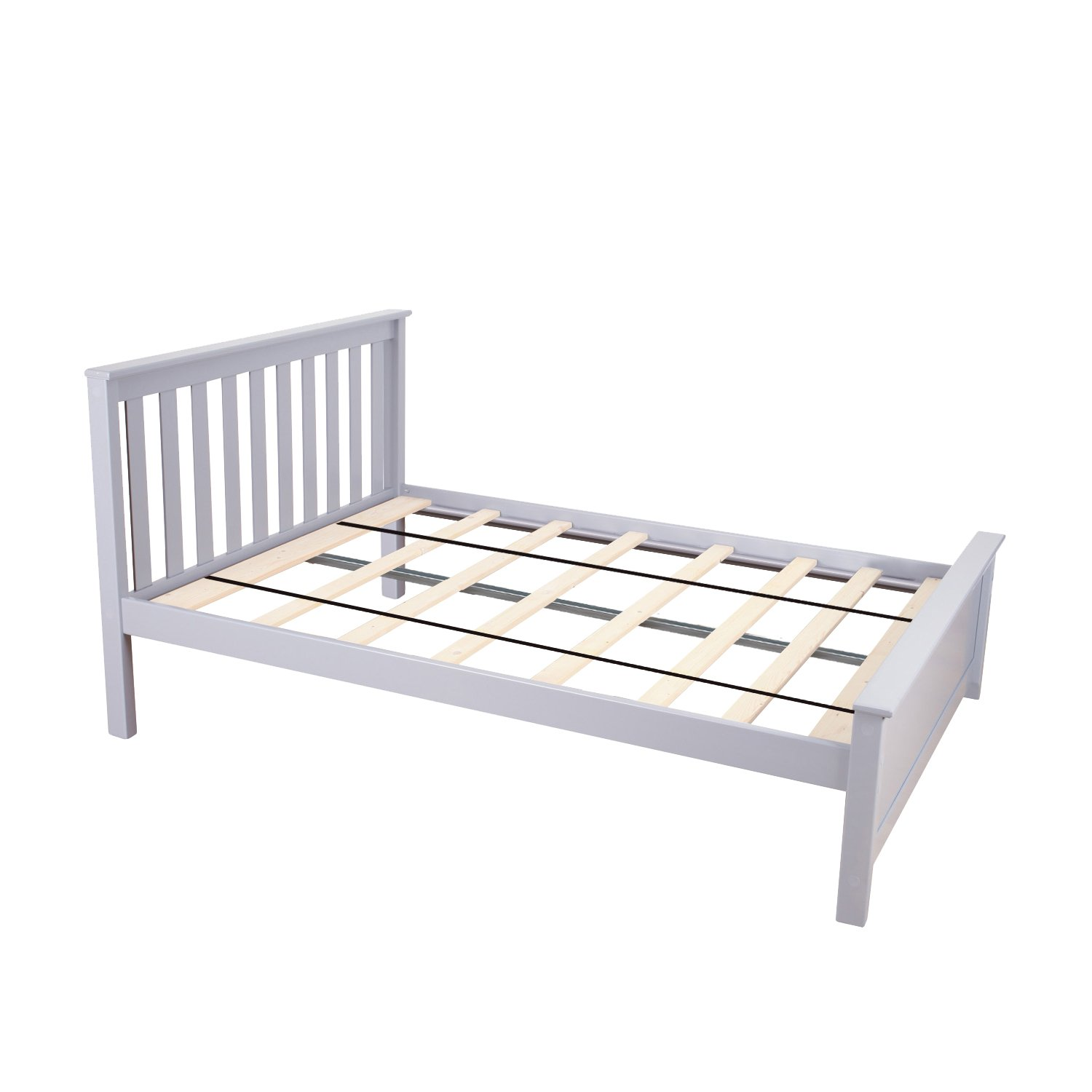 Max & Lily Solid Wood Full-Size Bed, Grey by Max & Lily