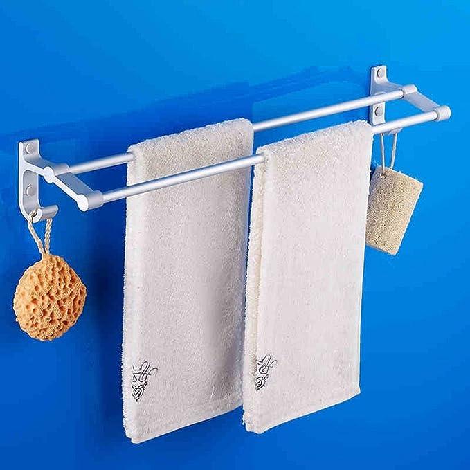 QFF Badezimmer-Zubehör Raum Aluminium Handtuchhalter Doppel bad bar ...