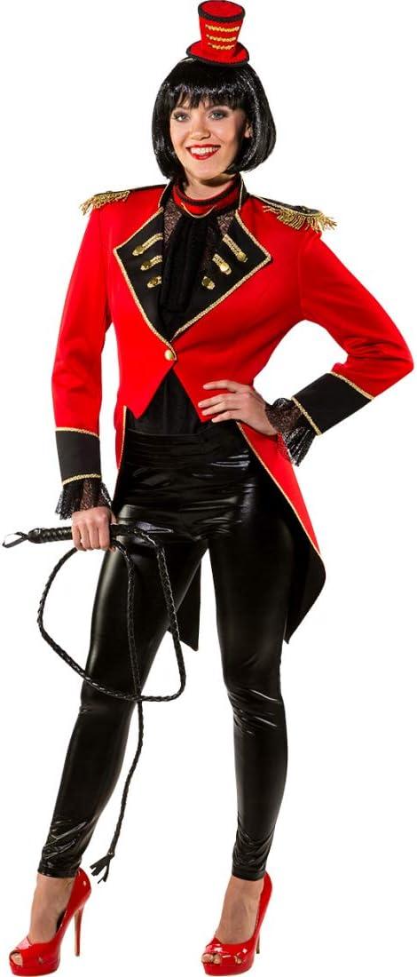 | D/éguisement raffin/é pour Femme directrice de Cirque La Tenue Parfaite pour Carnaval /& soir/ée /à th/ème NET TOYS FRAC /él/égant pour Femme dompteuse M//L Rouge-Noir en Taille FR 44//46