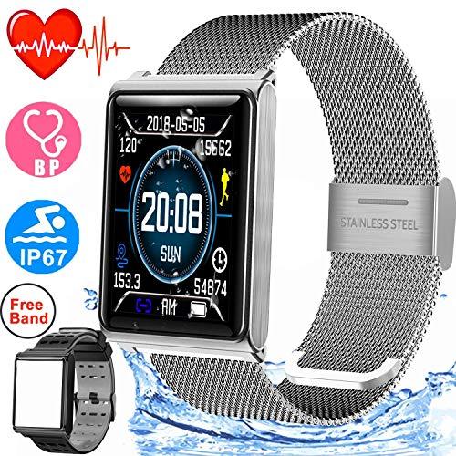 Duperym Smart Watch for Men Women IP67 Waterproof Sport Fitness Tracker with 1.5