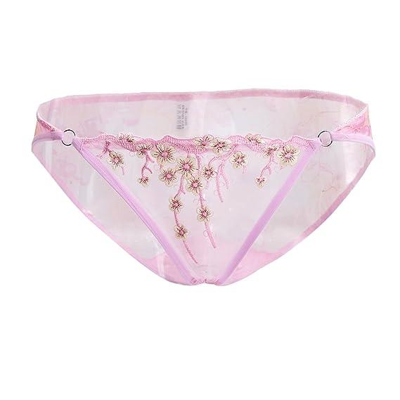 Homyl 3x Bragas Calzoncillos Ropa de Dormir Ropa Interior Caliente para Mujeres Detalle Bordado Elegante Delicado