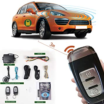 Car Remote Unlocker >> Remote Start Keyless Entry Car Alarm System Automatically Car Alarm Locked Unlock Accessories With Two 3 Button Remote Pke Start Stop Button
