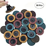 "Sanding Disc Set - 30PCS 2"" Roloc Disc Mixed Pack(Coarse/Medium/Fine), Quick-Change Surface Conditioning Discs - for Die Grinder Surface Prep Strip Grind Polish Finish Burr Rust Paint Removal"
