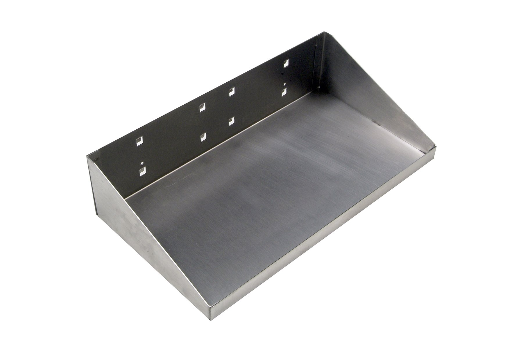 LocHook 66126 12''Wx6''D Stainless Steel Shelf for Stainless Steel Square Hole Locboard
