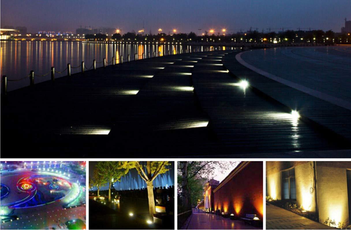 Lámpara Lámpara Lámpara de Tierra al Aire Libre Forma de Camino/jardín/césped, Lámpara Impermeable de Tierra, LED enterrado luz bajo 6W 12V luz Blanca 046c90