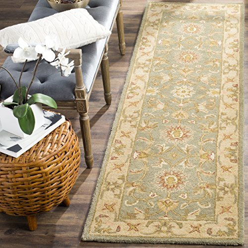 Safavieh Antiquities Collection AT313A Handmade Traditional Oriental Green and Gold Wool Runner (2'3