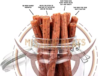 product image for Mission Meats Cracked Pepper Pork Sticks Antibiotic Free Sugar Free Gluten Free MSG Free Nitrate Nitrite Free All Natural Premium Pork Sticks Keto Friendly Paleo Friendly AIP Friendly (48 count)