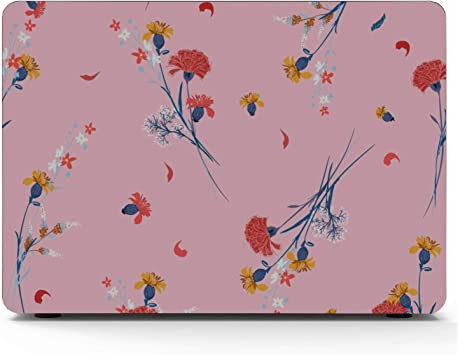 MacBook Pro Computer Case Charming Flowers Decoration Plastic Hard Shell Compatible Mac Air 11 Pro 13 15 15inch MacBook Pro Case Protection for MacBook 2016-2019 Version