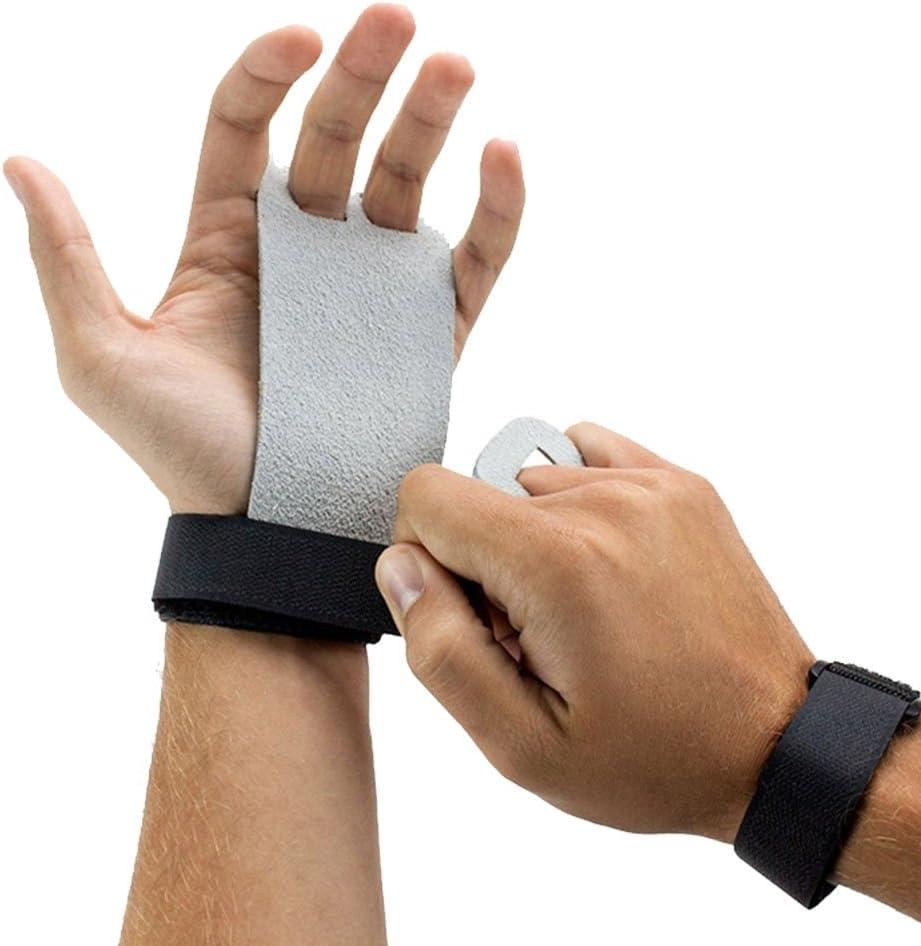 LIOOBO 1 par de pegas de mão de couro para ginástica – Ótimo para levantamento de peso e treinamento de crossfit