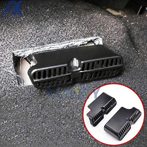 Vivona AX 2Pcs For Honda Civic 2016 2017 2018 Under Seat Floor Rear A/C Heater Air Conditioner Duct Vent Protective Cover Grill Grille