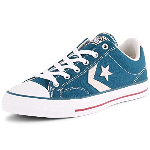 8c67d546b14d33 Converse 10 Star Player Ox Unisex Canvas Trainers Blue White - 40 EU ...