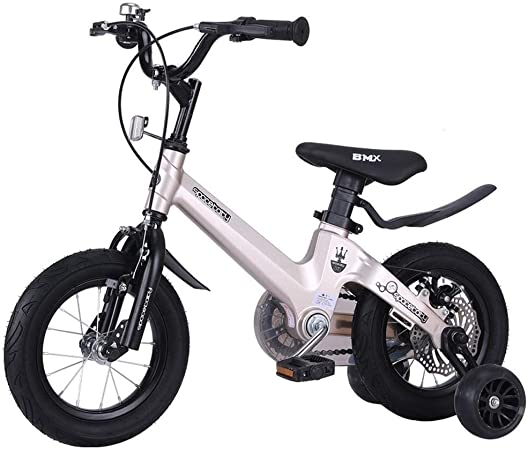 MDBYMX Bicicleta Infantil Bicicleta for niños Freestyle Magnesium Girl Boy Bike Size 12