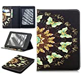 TiKeDa Case for Kindle Paperwhite-PU Leather Cover Auto Sleep/Wake for All-New Amazon Kindle Paperwhite (Fits All 2012, 2013, 2015 and 2016 Versions) (kindle paperwhite, Multi-Butterfly)