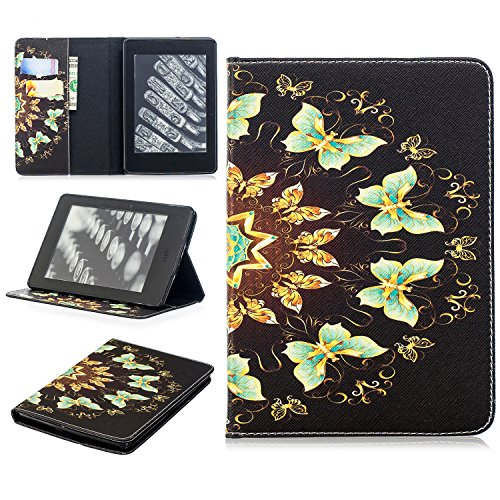 TiKeDa Case for Kindle Paperwhite-PU Leather Cover Auto Sleep/Wake for All-New Amazon Kindle Paperwhite (Fits All 2012, 2013, 2015 and 2016 Versions) (kindle paperwhite, Multi-Butterfly) by Tikeda