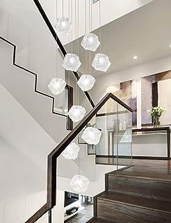 6 luces araña retro LED E27, 30*150cm, escalera lámpara ...