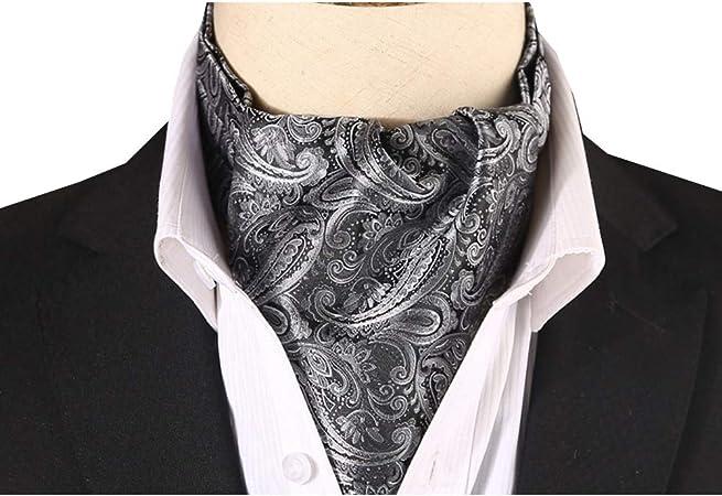 Yanjun Seda Corbata Bufanda Hombres Negocio Traje Camisa Acogedor Ocio Poliéster Multifuncional Oficina Boda, 5 Colores (Color : Negro, Tamaño : 15.5x117cm): Amazon.es: Hogar
