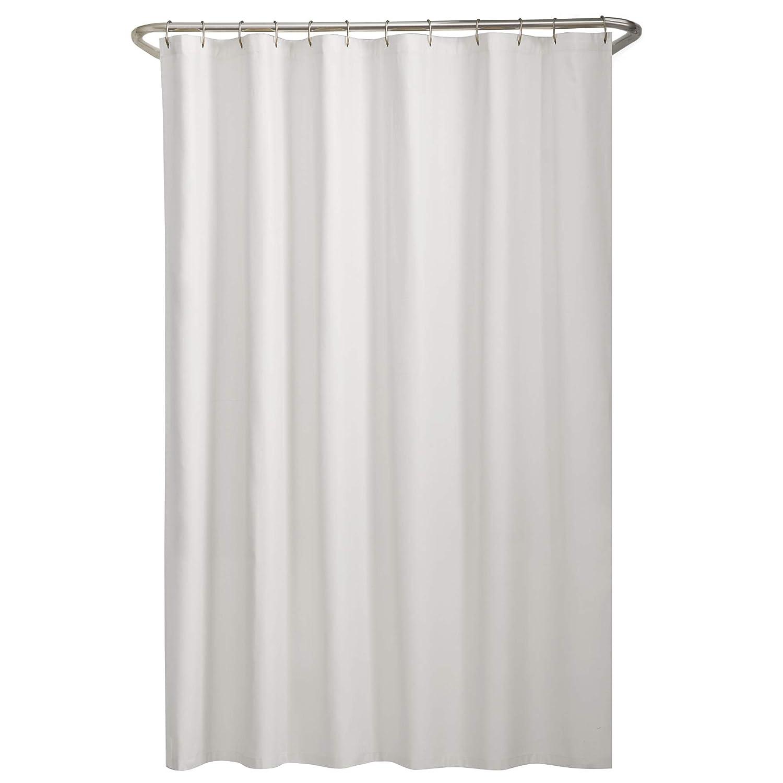 """MAYTEX Mills Fabric Shower Liner 70"""" x 72"""" White"""