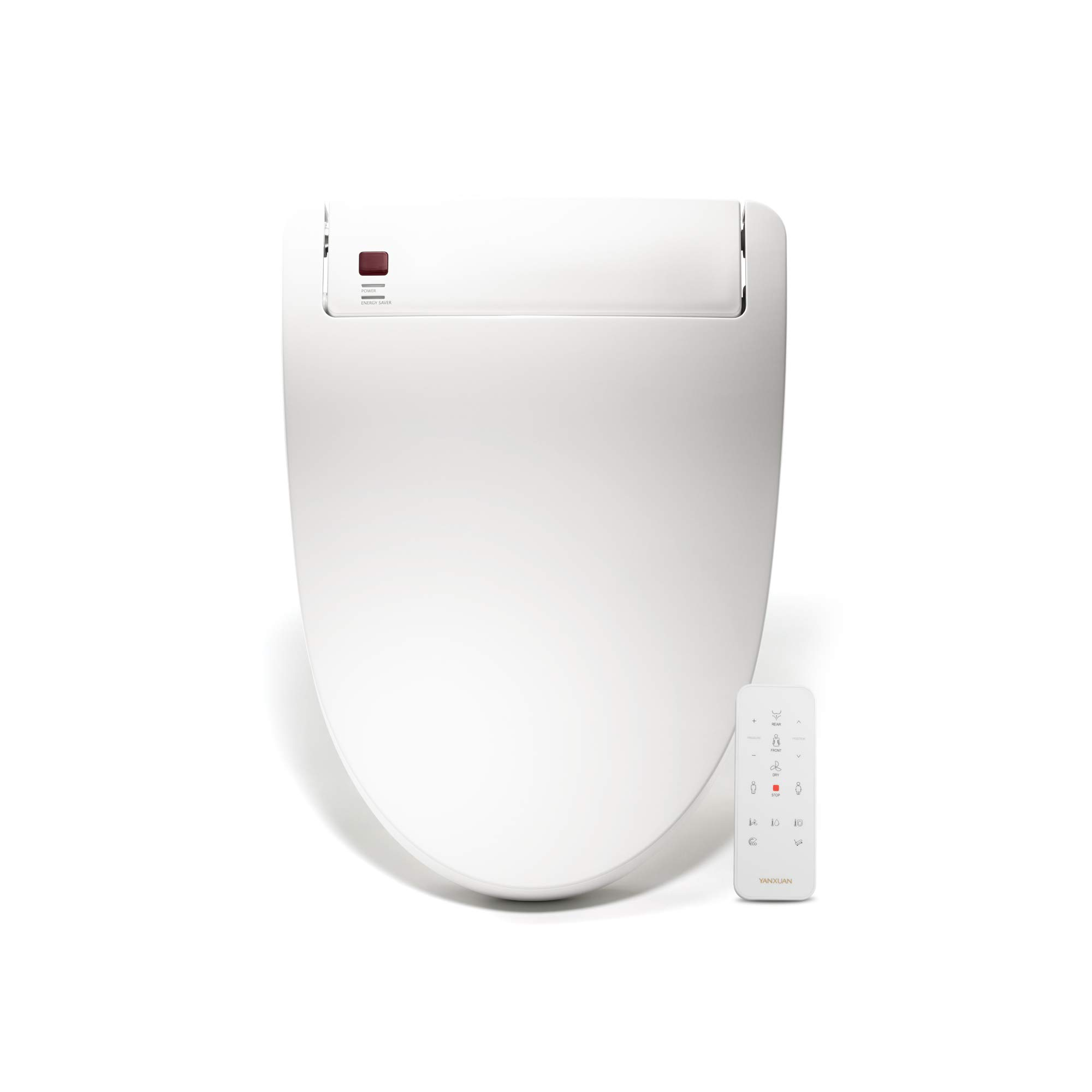 YANXUAN Elongated Toilet Seat with Self Cleaning Stainless Nozzle, Bidet with Heated Seat and Temperature Controlled Wash, Warm Air Dryer