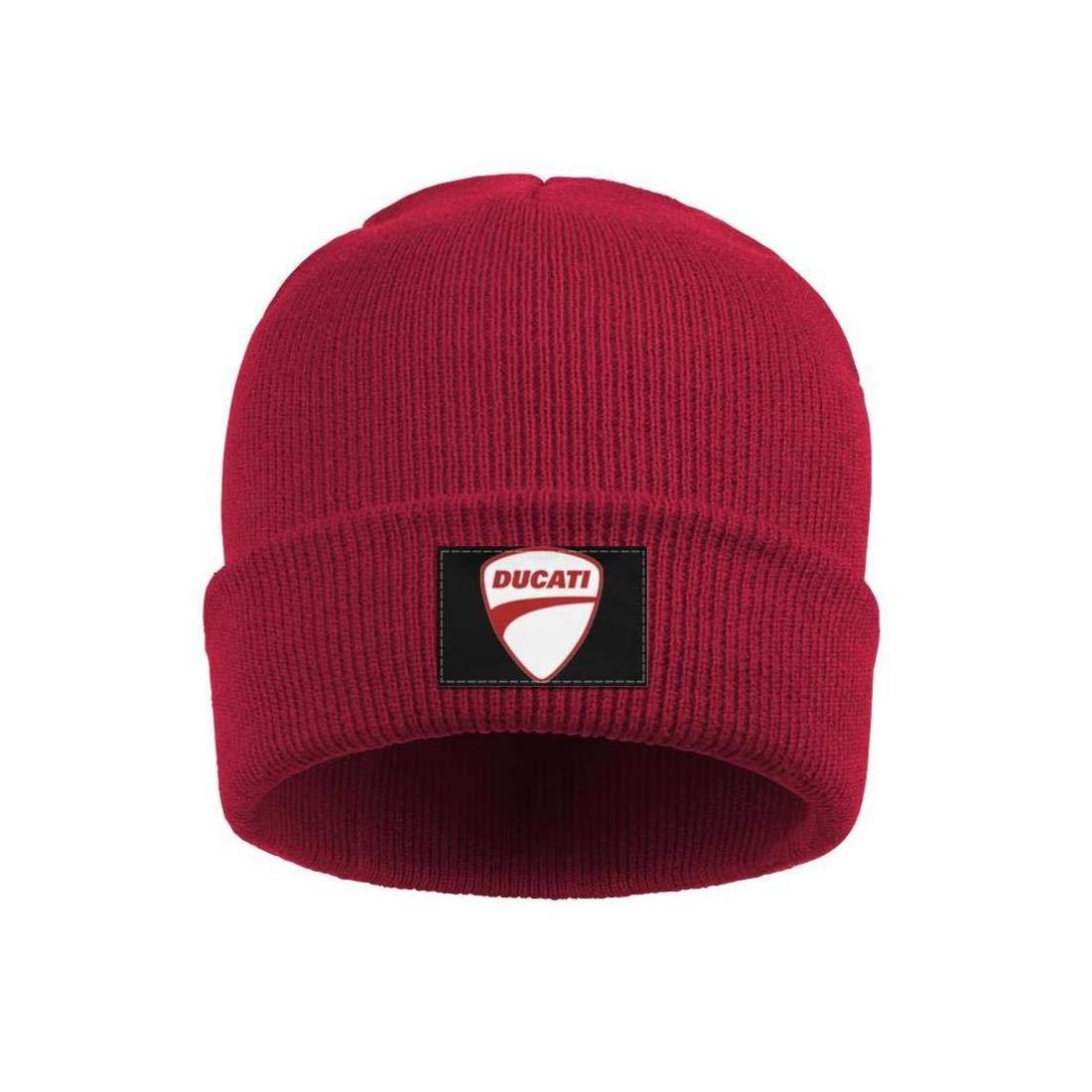Wool Beanie Cap Knit Cap Fine Knit Knitting Beanie HatsSki Warm Mens Ducati-Motorcycle-Logo