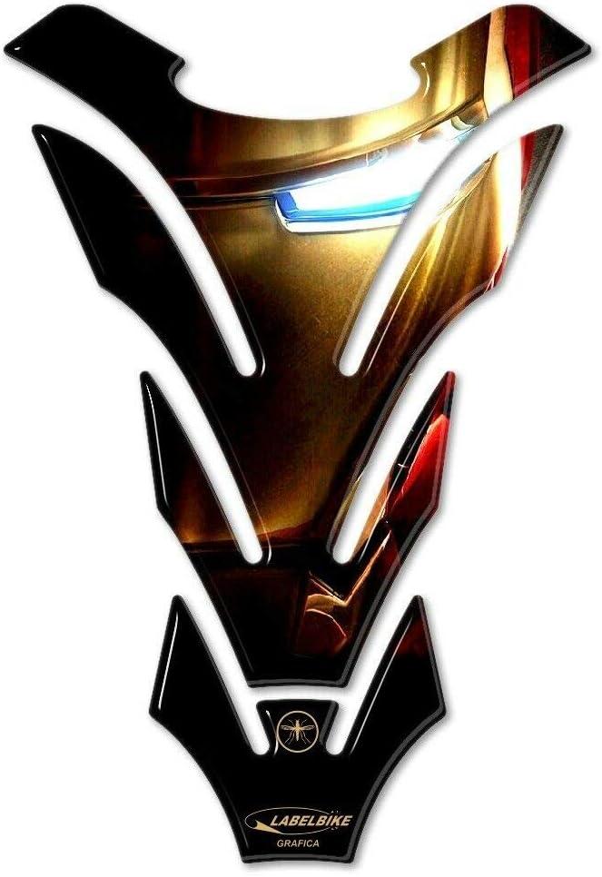 Autocollant Protection Moto Prot/ège-r/éservoir en r/ésine Gel 3D Iron Man The Avengers