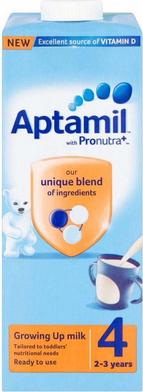 Aptamil Grandir lait Ready Made for Toddlers 2yr + (1L) - Paquet de 6