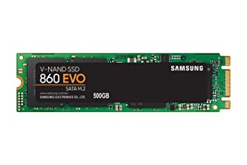 Samsung 860 EVO Series - 500GB M.2 SATA Internal Solid State Drive (MZ-N6E500BW) Internal Solid State Drives at amazon