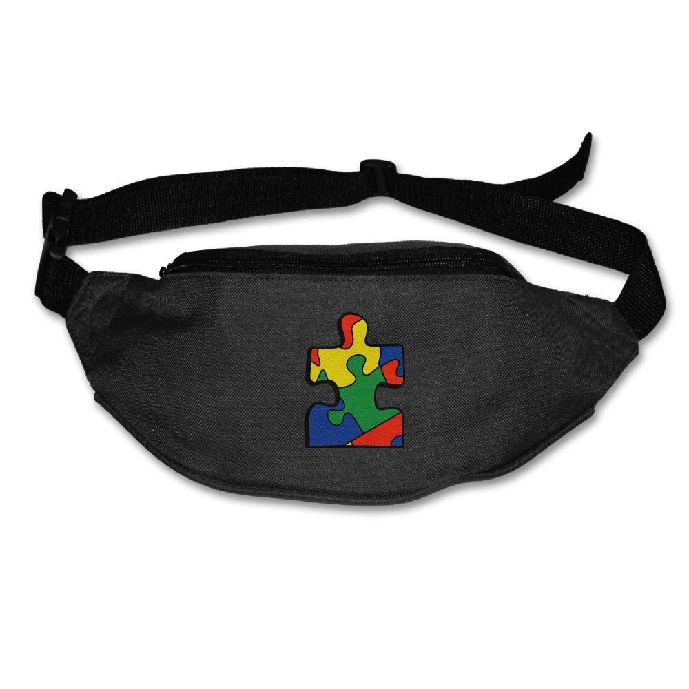 Waist Purse Colorful Puzzle Logo Unisex Outdoor Sports Pouch Fitness Runners Waist Bags