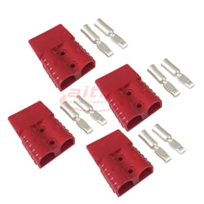 120A Battery Connector Quick Connect Battery Modular Power Connectors Quick Disconnect (Red): Automotive