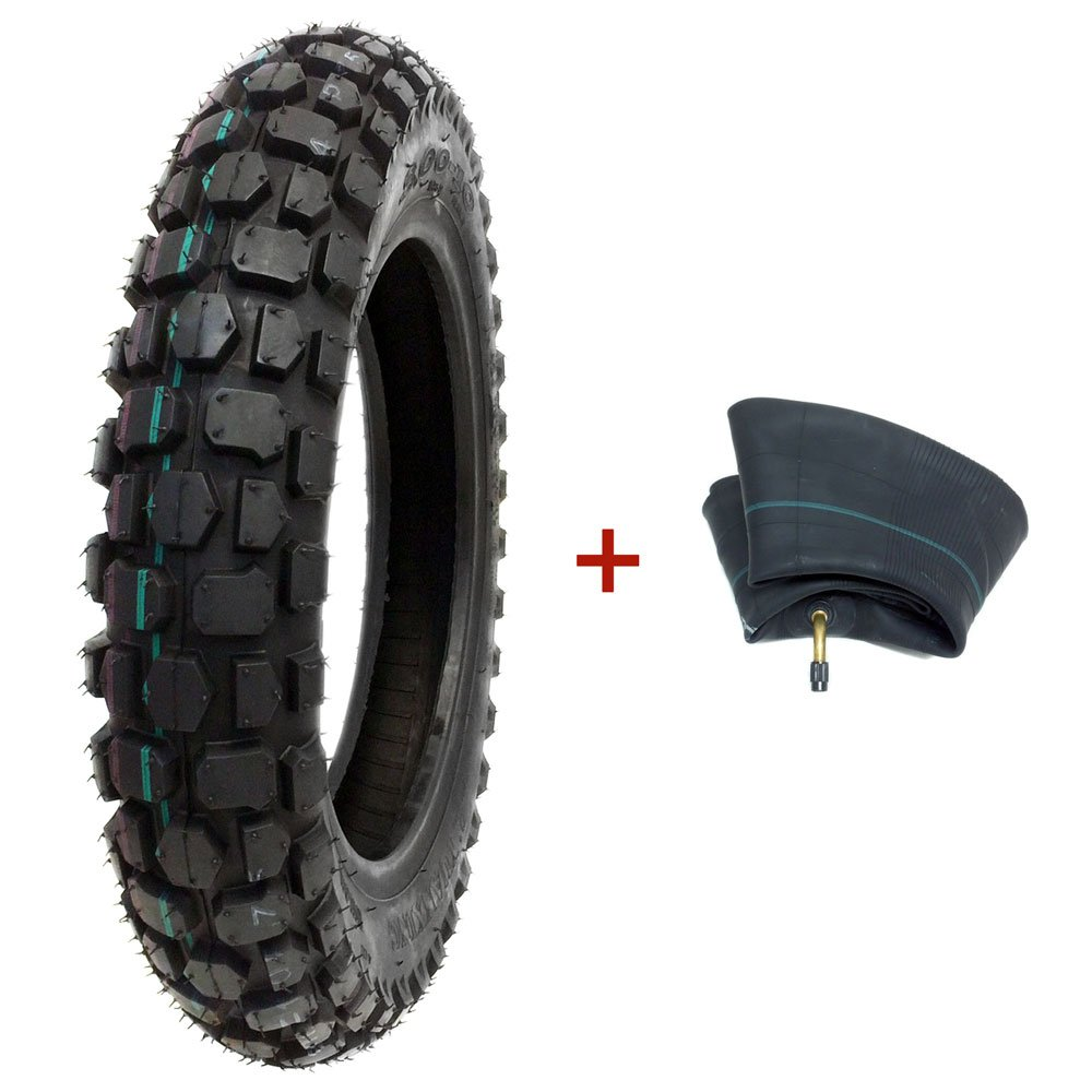 COMBO TIRE and INNER TUBE Size 3.00 - 12 Front or Rear Knobby Tread - Motorycle Trail Off Road Dirt Bike Motocross Pit