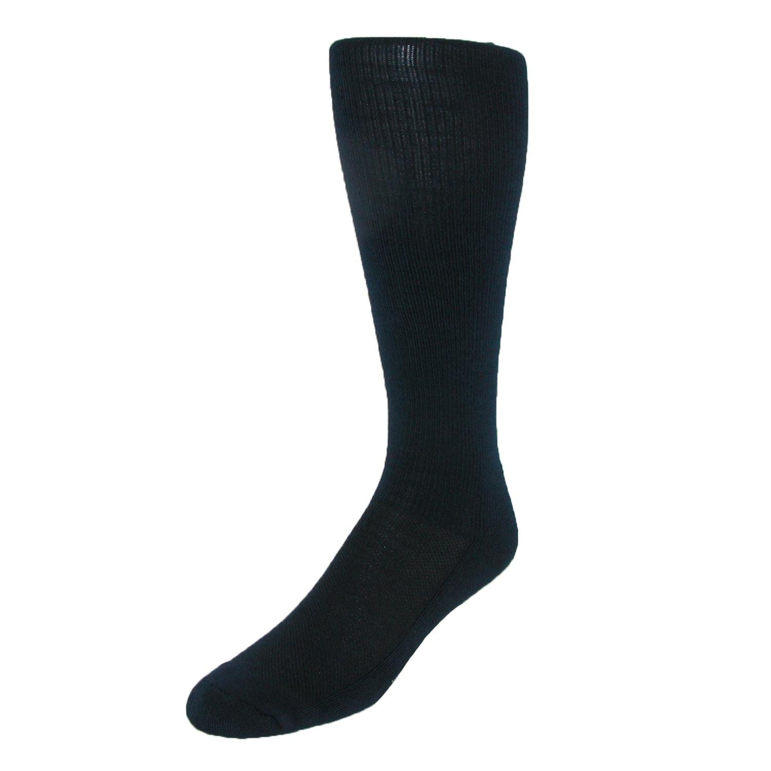 Windsor Collection Men's Gradual Compression Travel Support Socks, Navy
