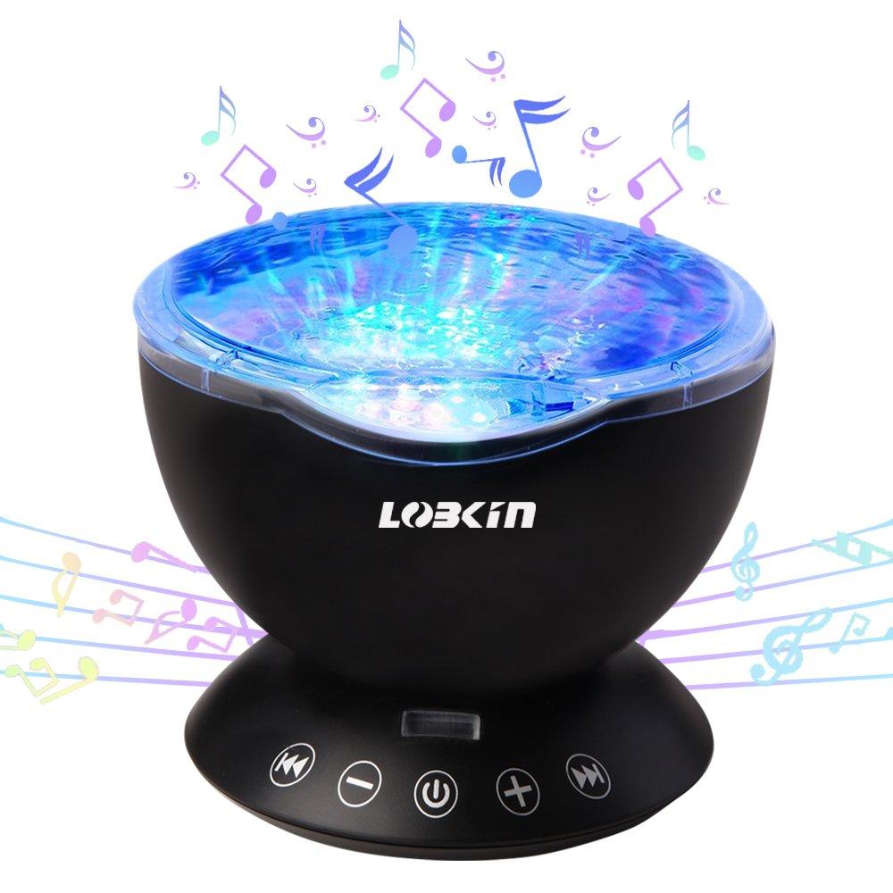 LOBKIN Ozean Wellen LED Nachtlicht-Projektor mit: Amazon.de: Elektronik