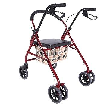 Shopping Carts Carro de la Compra Walker Silla de Ruedas pequeño Carro de la Compra Plegable