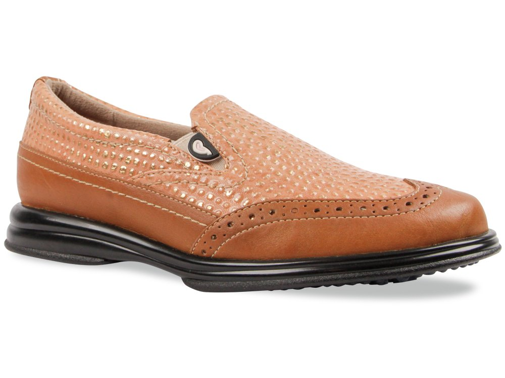 Sandbaggers Vanessa Women's Golf Shoe (Butterscotch, 9)