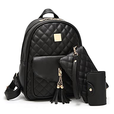 Women s Simple Design Fashion Quilted Casual Backpack Leather Backpack for  Women 01f2ccc52434f