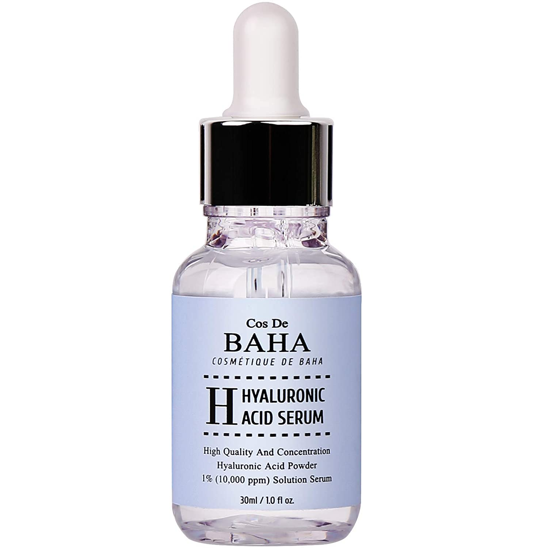 Cos De BAHA Sérum hydratant acide hyaluronique, anti-âge, anti-rides, booster de collagène d'origine, repulpant, adoucit les ridules, poudre de HA 1% 30ml Crop. CosDeBAHA