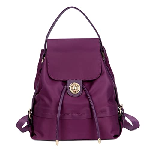 TOPSHINE Women Mini Backpack Purse Small Turnlock Tie (PURPLE ... 871cabf7d9db8