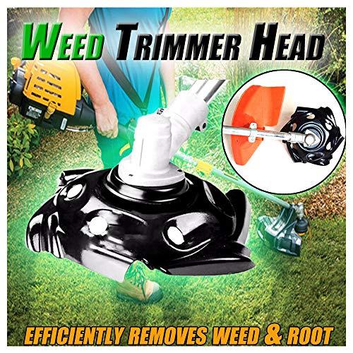 Lawn Mower Sharpener Head Weed Trimmer Head Weed Trimmer Grass Trimmer Head for Power Lawn Mower (Black)