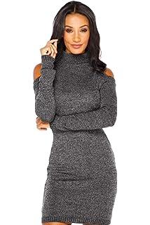 f8c65a1fd958 Vestito Maglia Donna Invernale Moda Sexy Abito Spalle Scoperte Corto  Maglione Vestiti Tubino Ragazza Abiti Aderenti