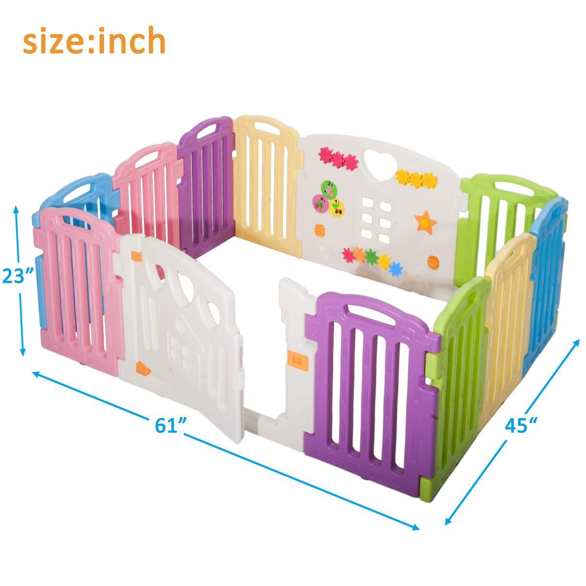 Harper Bright Designs DreamHouse Kiddie Playpen Home Baby Safety Playards Greek Style
