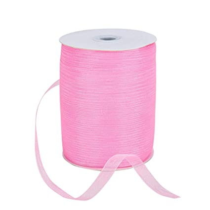 SUSSURRO 4 Rolls Ribbon Rolls Terylene Fabric Ribbon Silk Satin Roll Embellish Ribbons Double Sided Ribbons Roll Woven Ribbon for Sewing Arts Bows Crafts Gifts