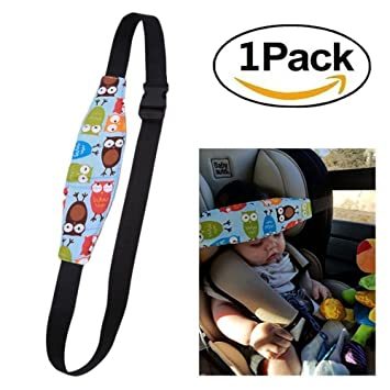 UK Safety Car Seat Sleep Nap Baby Kids Aid Head Band Support Holder Belt Strap